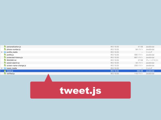 tweet.jsを開く